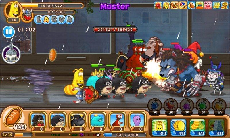 Larva heroes: battle league