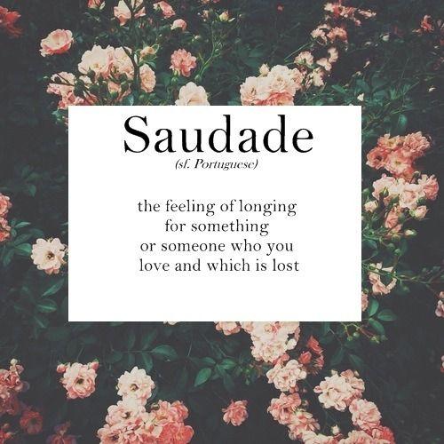 Saudade là gì