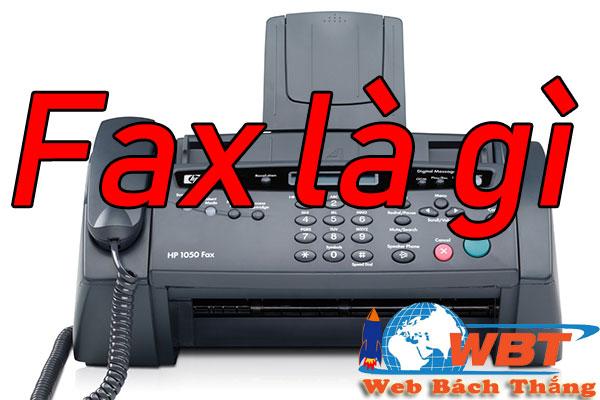 Số fax là gì