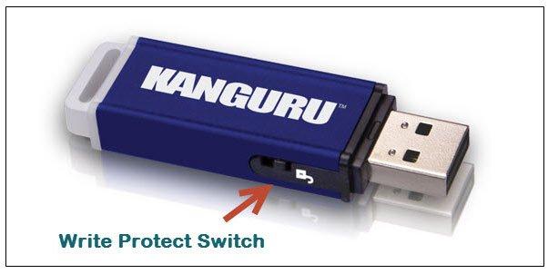 Sửa lỗi the disk is write protected trên usb