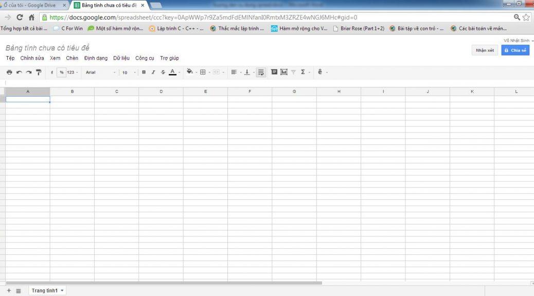 Spreadsheet là gì