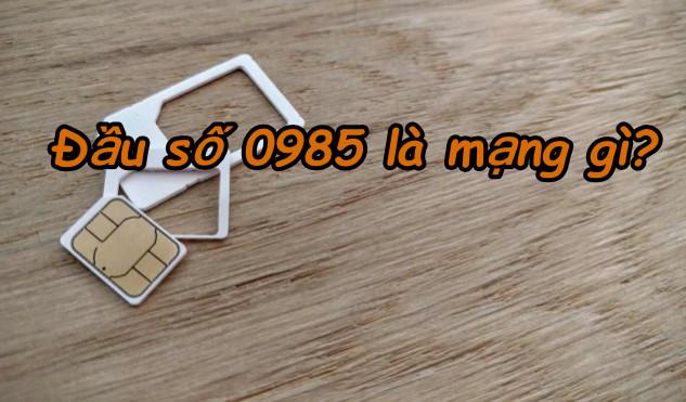 0985 là mạng gì
