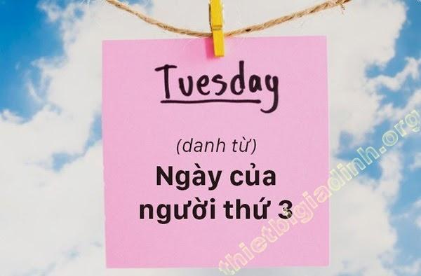 Tuesday nghĩa là gì