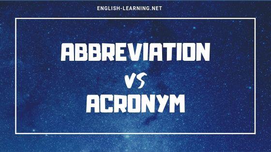 Acronyms là gì